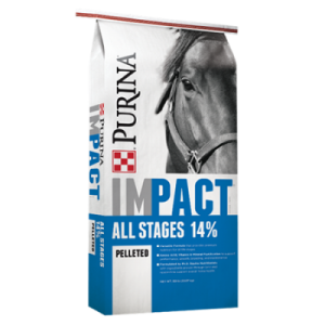 Purina Impact All Stages 14% Pelleted Horse Feed 50-lb